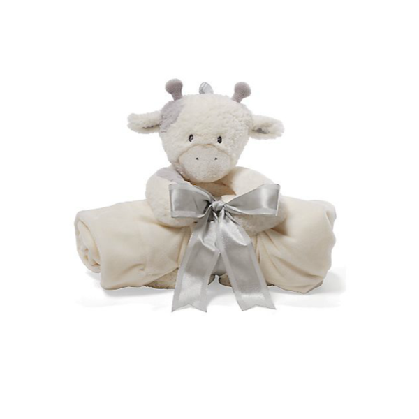Gund - Golly Plush Cow & Blanket Two-Piece Gift Set - Shark Tank Taiwan 歐美時尚生活網