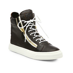 Giuseppe Zanotti - Double Zip Leather High-Top Sneakers - Shark Tank Taiwan