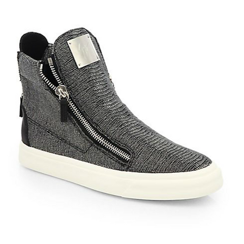 Giuseppe Zanotti - Snakeskin-Embossed Leather High-Top Sneakers