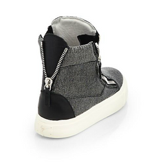 Giuseppe Zanotti - Snakeskin-Embossed Leather High-Top Sneakers - Shark Tank Taiwan