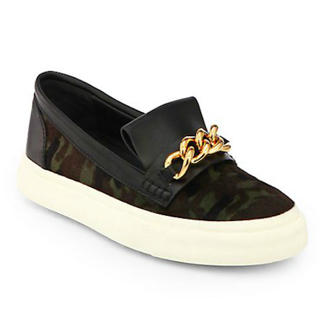 Giuseppe Zanotti - Camo & Gold Chain Slip-On Sneakers