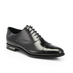 Prada - Spazzolato Captoe Oxfords - Shark Tank Taiwan