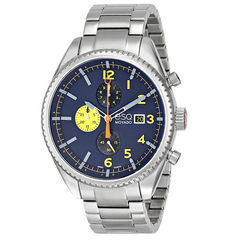 ESQ Movado - Men's 07301446 Catalyst Ionic Black-Plated Steel and Bracelet Blue Chrono Dial Watch - Shark Tank Taiwan