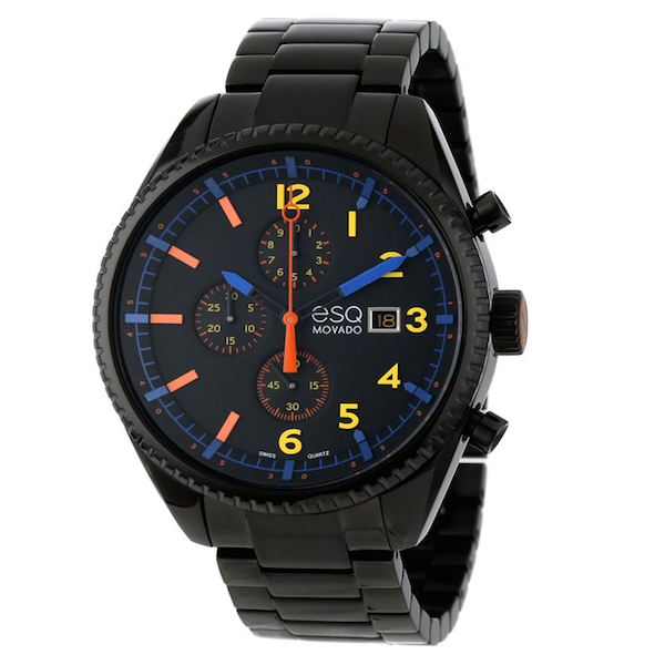 ESQ Movado - Men's Swiss Chronograph Catalyst Black Ion-Plated Stainless Steel Bracelet 44mm 7301452 - Shark Tank Taiwan