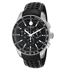 Movado - Series 800 Quartz Chronograph Black Dial Mens Watch 2600096 - Shark Tank Taiwan