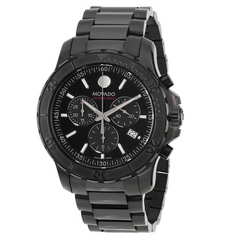 Movado - Series 800 Chronograph Black PVD Stainless Steel Mens Watch 2600119 - Shark Tank Taiwan