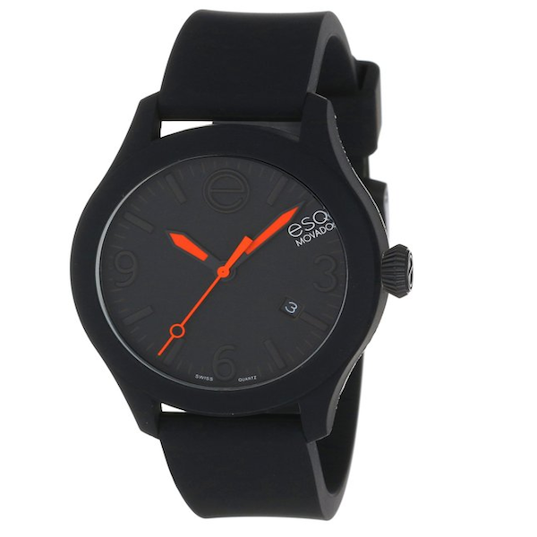ESQ Movado - Unisex Swiss ESQ One Black Silicone Strap 43mm 07301436 - Shark Tank Taiwan