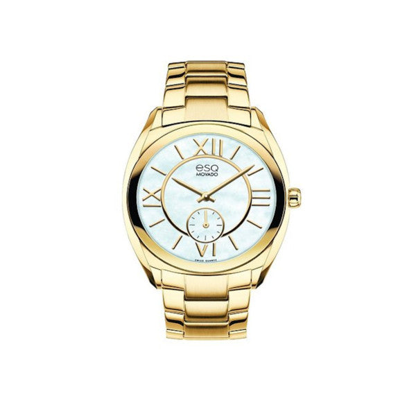 ESQ - Movado Women's Origin Analog Display Swiss Quartz Gold Watch - Shark Tank Taiwan