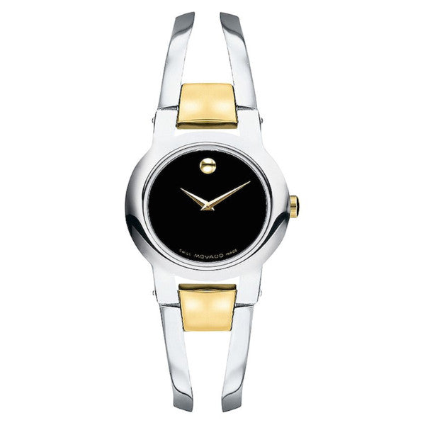 Movado - Women's Amorosa Two Tone Stainless Steel Bangle Bracelet Watch 24mm 0604760 - Shark Tank Taiwan