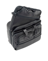Tumi - Alpha Deluxe Wheeled Leather Brief with Laptop Case - Shark Tank Taiwan