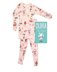 "Books To Bed - Toddler's & Little Girl's ""Olivia & The Fairy Princess"" Pajamas & Book Three-Piece Set - Shark Tank Taiwan"