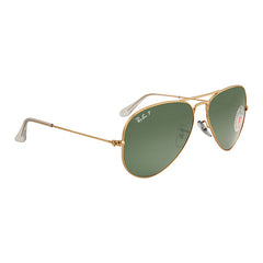 RAY BAN -  Aviator Green Polarized Lens 58mm Men's Sunglasses - Shark Tank Taiwan