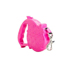 Chrome Bones - Luxtrac Noir Classic Retractable Leash / Pink - Shark Tank Taiwan