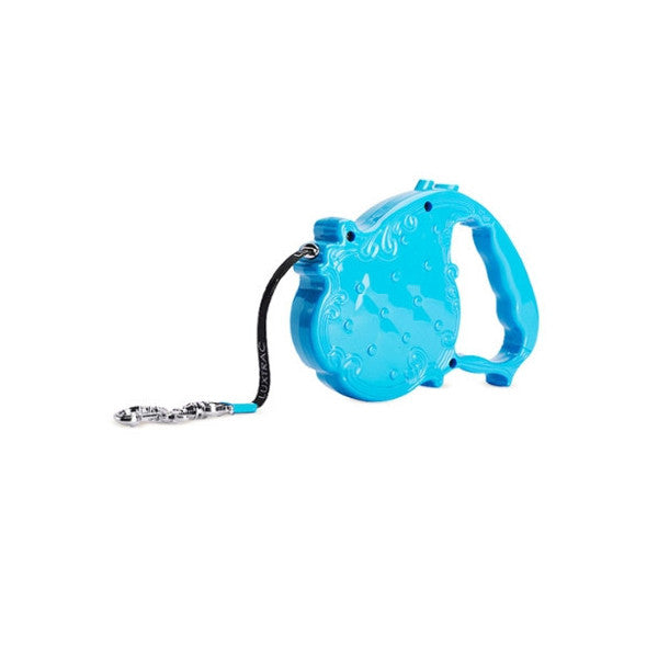 Chrome Bones - Luxtrac Noir Classic Retractable Leash / Turquoise - Shark Tank Taiwan