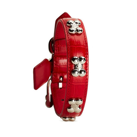 Chrome Bones - Forever Bones Python Collar / Red