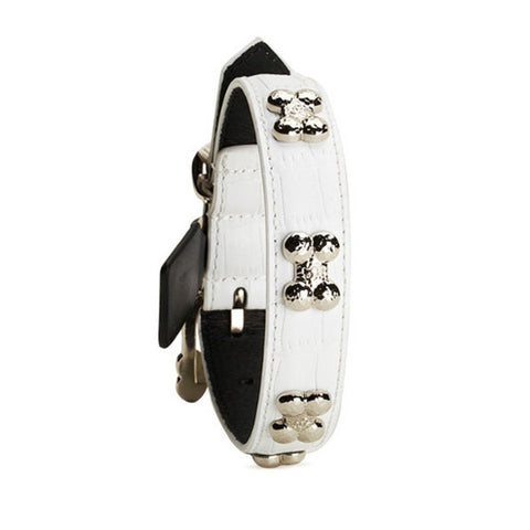 Chrome Bones - Forever Bones Python Collar / White