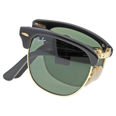 RAY BAN Folding Clubmaster Black - Green 51mm Sunglasses - Shark Tank Taiwan