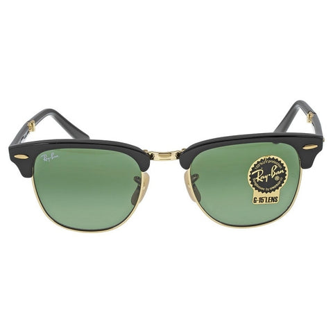 RAY BAN Folding Clubmaster Black - Green 51mm Sunglasses
