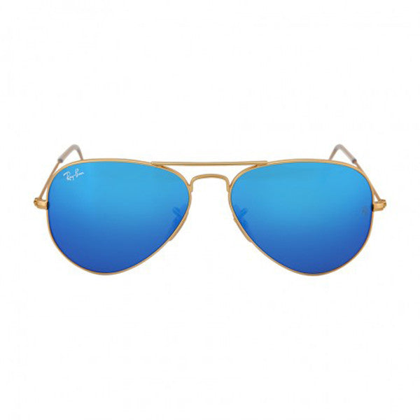 RAY BAN -  Aviator Gold Metal Frame Blue Mirror Polarized Crystal Lens 55mm Men's Sunglasses - Shark Tank Taiwan