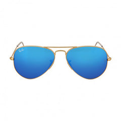 RAY BAN -  Aviator Gold Metal Frame Blue Mirror Non-Polarized Crystal Lens 55mm Men's Sunglasses - Shark Tank Taiwan