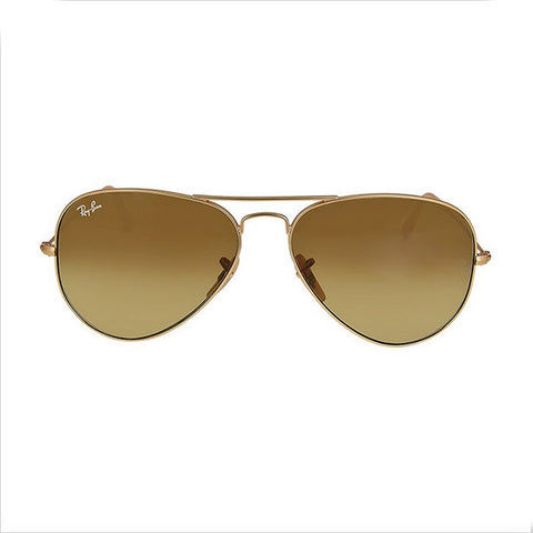 RAY BAN -  Aviator Matte Gold Brown 58mm Unisex Sunglasses