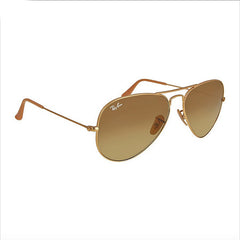 RAY BAN -  Aviator Matte Gold Brown 58mm Unisex Sunglasses - Shark Tank Taiwan