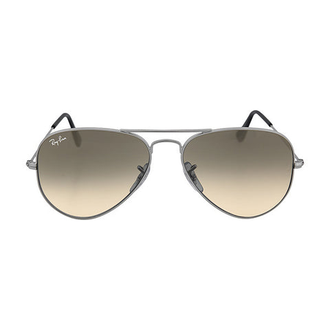 RAY BAN -  Aviator Metal Silver Grey 55mm Mirrored Lenses Large Sunglasses