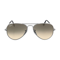 RAY BAN -  Aviator Metal Silver Grey 55mm Mirrored Lenses Large Sunglasses - Shark Tank Taiwan