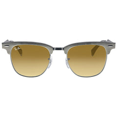 RAY BAN - Clubmaster Brown Gradient Aluminum Sunglasses - Shark Tank Taiwan