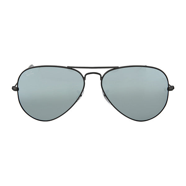 RAY BAN -  Large Aviator Sunglasses, Gunmetal with Green Mirrored Lenses - Shark Tank Taiwan