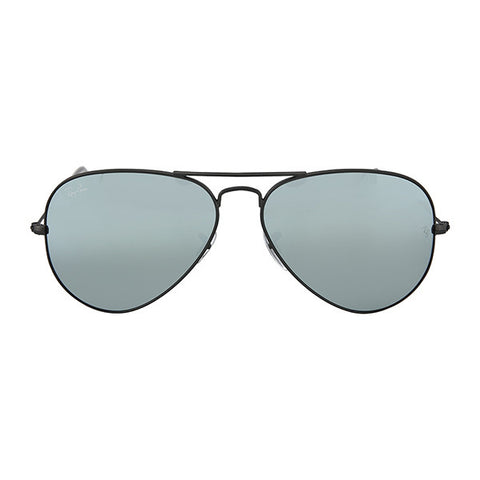RAY BAN -  Large Aviator Sunglasses, Gunmetal with Green Mirrored Lenses