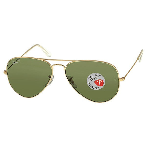 Ray Ban Large Aviator Polarized Arista Green Lens Sunglasses - Shark Tank Taiwan