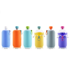 AQUAOVO Lab[O] The Space Odyssey Twin-Pack Water Bottle<br/>太空系列 環保玻璃水瓶 2瓶特惠組 (共6色) - Shark Tank Taiwan