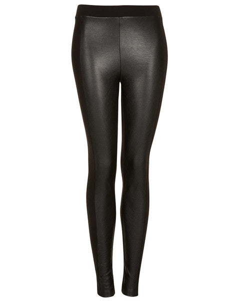 TOPSHOP - Leather Look Front Leggings - Shark Tank Taiwan