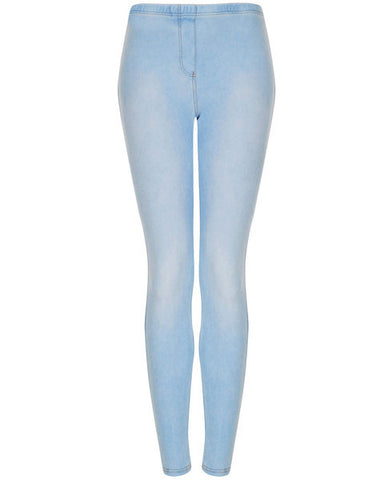 TOPSHOP - Washed Denim Look Leggings