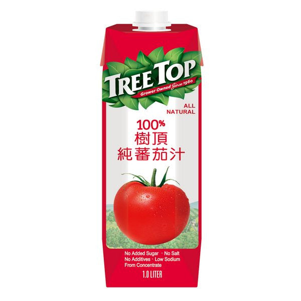 TREE TOP All Natural Tomato Juice<br/>樹頂100%純番茄汁 1L (12入/箱) - Shark Tank Taiwan
