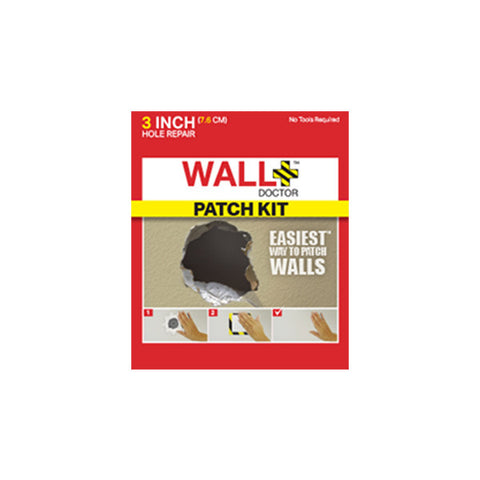 WALL DOCTOR 3 Inch Drywall Repair Patch Kit<br/>美國牆壁修補救星 7.6cm - Shark Tank Taiwan