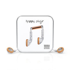HAPPY PLUGS Limited Edition Earbud - White Marble<br/>特仕限定款耳塞式耳機 - 大理石紋/玫瑰金 - Shark Tank Taiwan