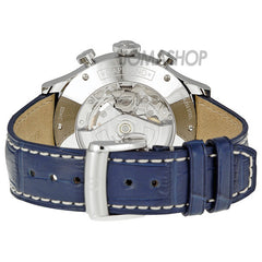 Baume and Mercier - Capeland Silver Dial Chronograph Blue Leather Mens Watch MOA10063 (43% off) - Shark Tank Taiwan