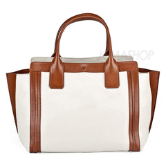 Chloe - Alison White and Tan Leather Shopper Tote 3S0164-703-00I - Shark Tank Taiwan
