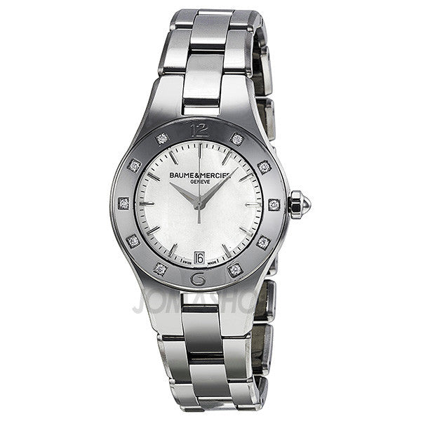 Baume and Mercier - Linea Mother of Pearl Stainless Steel Ladies Watch MOA10071 (70% off) - Shark Tank Taiwan