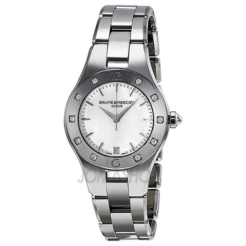 Baume and Mercier - Linea Mother of Pearl Stainless Steel Ladies Watch MOA10071 (70% off)