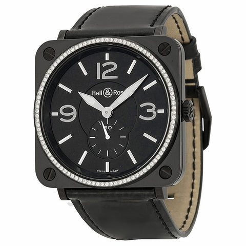 Bell and Ross - Aviation Black Dial Diamond Unisex Watch BRS-BLKD-CER-PHT (38% off)