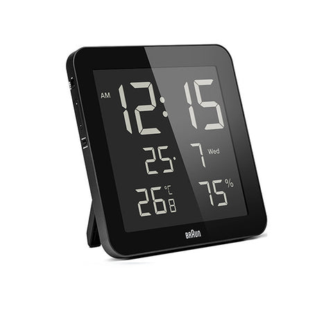 BRAUN Digital Wall Clock<br/>溫濕度數位掛鐘 (共2色) - Shark Tank Taiwan