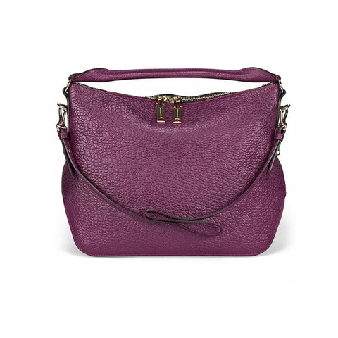 BURBERRY Small Signature Magenta Leather Hobo Bag 3882878