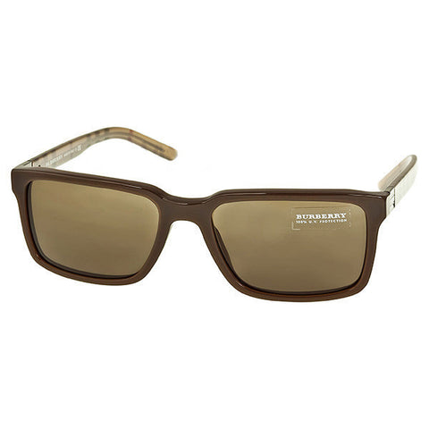 Burberry - Square Brown Acetate Sunglasses 0BE4097-55-323773 (32% off)