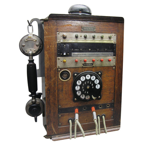 WERKHAUS Telephone - Antique<br/>電話造型置物箱 - 復古木紋
