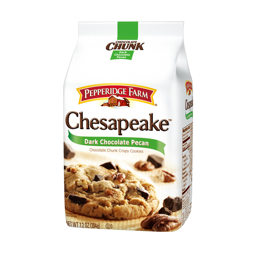 PEPPERIDGE FARM Chocolate Chunk Crispy Cookies - Dark Chocolate Pecan<br/>琣伯莉巧克力胡桃餅乾(5入) - Shark Tank Taiwan