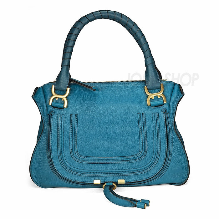 Chloe - Marcie Blue Leather Mini Satchel 3S0860-161-73M - Shark Tank Taiwan