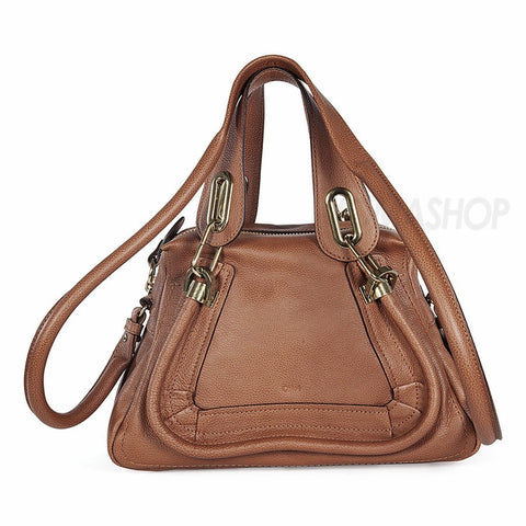 Chloe - Paraty Brown Leather Small Satchel 3S0024-043-19P